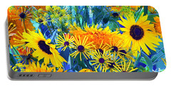 Portable Battery Charger featuring the photograph Summer Bouquet by Byron Varvarigos