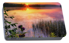 Portable Battery Charger featuring the photograph Summer Sunrise Square by Bill Wakeley