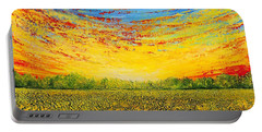 Portable Battery Charger featuring the painting Summer by Teresa Wegrzyn