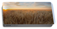 Portable Battery Charger featuring the photograph Summer Wheat by Lynn Hopwood
