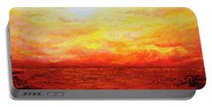 Portable Battery Charger featuring the painting Sunburst by Teresa Wegrzyn