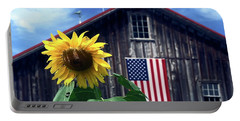 Sunflower By Barn Portable Battery Charger