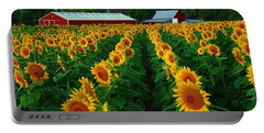 Sunflower Field #4 Portable Battery Charger