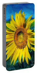 Sunflower Portable Battery Charger by Ian Mitchell