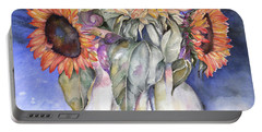 Sunflowers Portable Battery Charger by Nadine Dennis