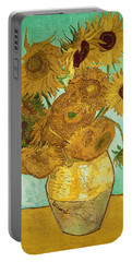 Sunflowers Portable Battery Charger by Vincent Van Gogh