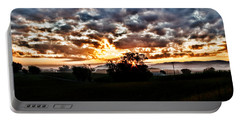 Sunrise Over Fields Portable Battery Charger