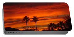Sunrise Over Palm Desert Portable Battery Charger