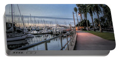 Sunrise Over Santa Barbara Marina Portable Battery Charger by Tom Mc Nemar