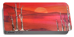 Portable Battery Charger featuring the painting Sunrise by Pat Purdy