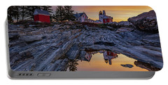 Sunrise At Pemaquid Point II Portable Battery Charger