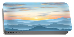 Portable Battery Charger featuring the painting Sunrise by Veronica Minozzi
