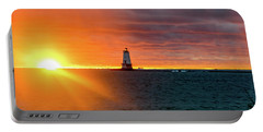 Sunset And Lighthouse Portable Battery Charger