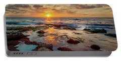 Portable Battery Charger featuring the photograph Sunset At La Jolla  by Rikk Flohr
