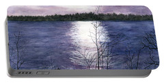 Portable Battery Charger featuring the painting Sunset At Niagara River New York by Melly Terpening