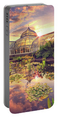 Sunset At Phipps Conservatory Portable Battery Charger by Emmanuel Panagiotakis
