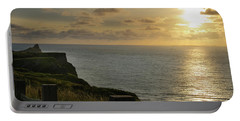Portable Battery Charger featuring the photograph Sunset At Rhossili Bay by Perry Rodriguez