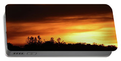 Sunset Behind The Clouds  Portable Battery Charger by Lyle Crump