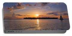 Key West Sunset From Mallory Square Portable Battery Charger