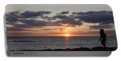 Portable Battery Charger featuring the photograph Sunset Off Lipoa by Fred Wilson