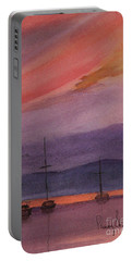 Sunset On Madeline Island Portable Battery Charger
