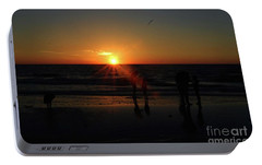 Portable Battery Charger featuring the photograph Sunset On The Beach by Gary Wonning