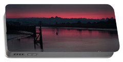 Portable Battery Charger featuring the photograph Sunset On The River by Perry Rodriguez