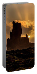 Sunset Over Cliffside Landscape Portable Battery Charger by Joe Belanger