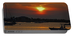 Portable Battery Charger featuring the photograph 1- Sunset Over The Intracoastal by Joseph Keane