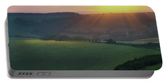 Sunset Over The South Downs Portable Battery Charger