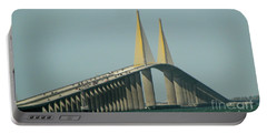 Sunshine Skyway Bridge Portable Battery Charger by Donna Brown
