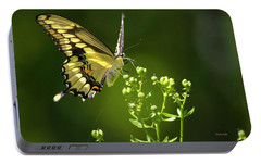Portable Battery Charger featuring the photograph Elegant Swallowtail Butterfly by Christina Rollo