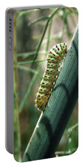Swallowtail Caterpillar Portable Battery Charger by Meir Ezrachi