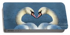 Swans Portrait Portable Battery Charger