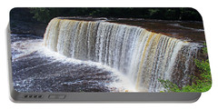 Tahquamenon Upper Falls IIi Portable Battery Charger by Michiale Schneider