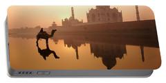Taj Mahal At Sunrise Portable Battery Charger