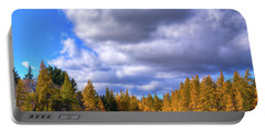 Portable Battery Charger featuring the photograph Tamaracks At Woodcraft Camp by David Patterson