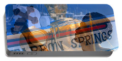Portable Battery Charger featuring the photograph Tarpon Springs Florida Mash Up by David Lee Thompson