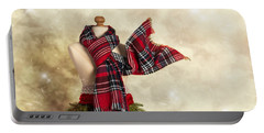 Tartan Scarf Portable Battery Charger