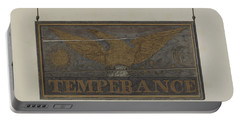 "Tavern Sign: ""temperance"" Portable Battery Charger"