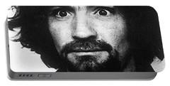 Charles Manson Mug Shot 1969 Vertical  Portable Battery Charger