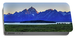 Portable Battery Charger featuring the photograph Teton Sunset by David Chandler