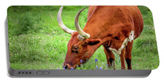 Texas Longhorn Grazing Portable Battery Charger