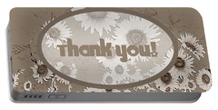 Thank You Card Daisies Portable Battery Charger