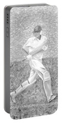 Portable Battery Charger featuring the mixed media The Batsman by Elizabeth Lock