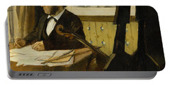 The Cellist Pilet Portable Battery Charger by Edgar Degas