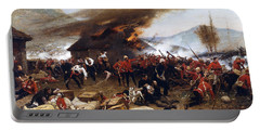 Portable Battery Charger featuring the painting The Defence Of Rorke's Drift 1879 by Alphonse de Neuville