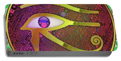 The Eye Of Horus, Pop Art By Mb Portable Battery Charger