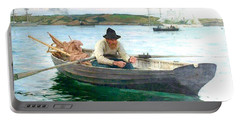 Portable Battery Charger featuring the painting The Fisherman by Henry Scott Tuke