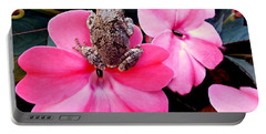 The Frog And The Flower Portable Battery Charger